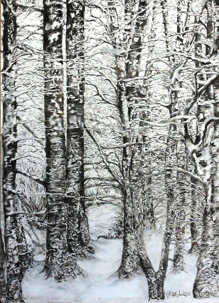 Winter Trees, Dinas Forest, Ceredigion by Jennifer Lisa Higson