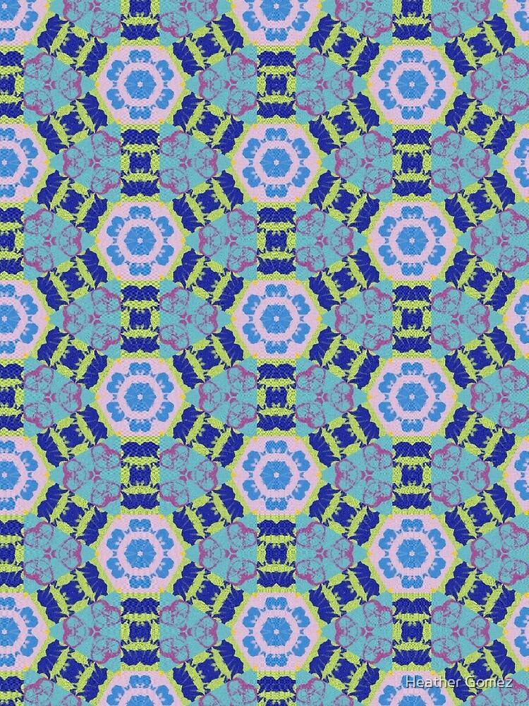 Blissful Blue Floral Twist by Heather Gomez