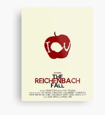The Reichenbach Fall Metal Print