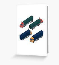 Cargo Transportation. Isometric Truck. Isometric Transportation. Cargo Trailer. Delivery Truck. Logistics Transportation. Mode of Transportation. Cargo Truck. Greeting Card