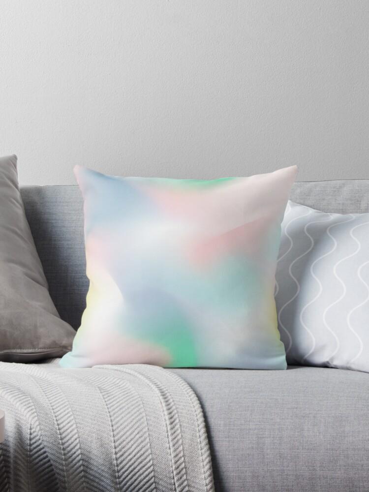 Rainbow Abstract (Soft Pastel) by Blue-Banana