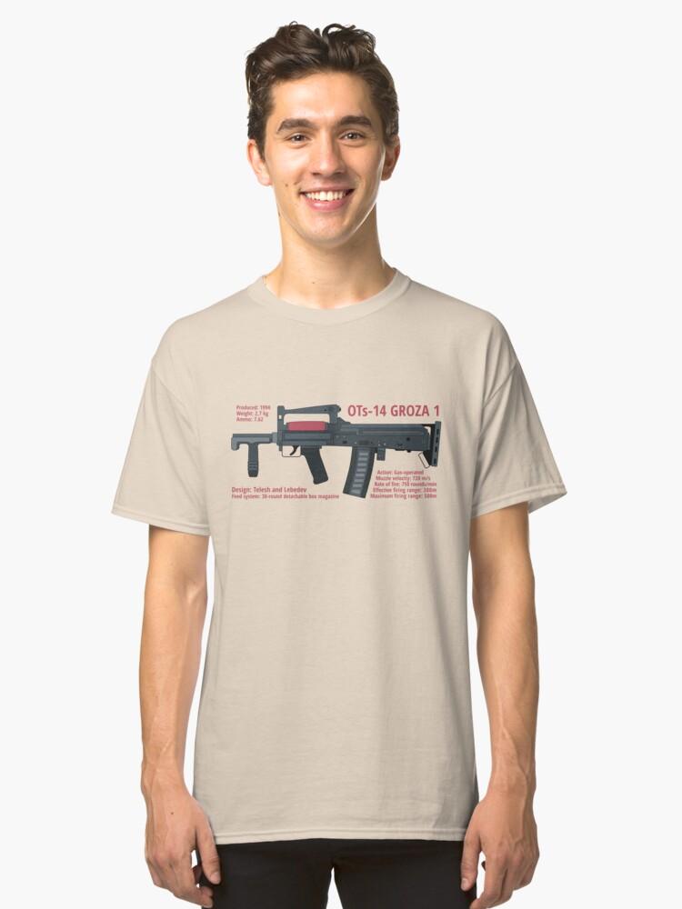 OTs-14 Bullpup Rifle Groza (ОЦ-14 Гроза) horizontal Classic T-Shirt Front