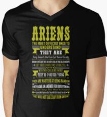 Ariens Difficult Ones To Understand Zodiac Tshirt Men's V-Neck T-Shirt