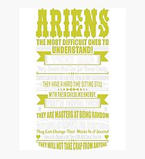 Ariens Difficult Ones To Understand Zodiac Tshirt Photographic Print