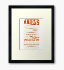 Ariens Difficult Ones To Understand Zodiac Tshirt Framed Print