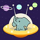 «Astronauta elefante: misión Galaxy» de EuGeniaArt