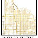 SALT LAKE CITY UTAH CITY STREET MAP ART by deificusArt
