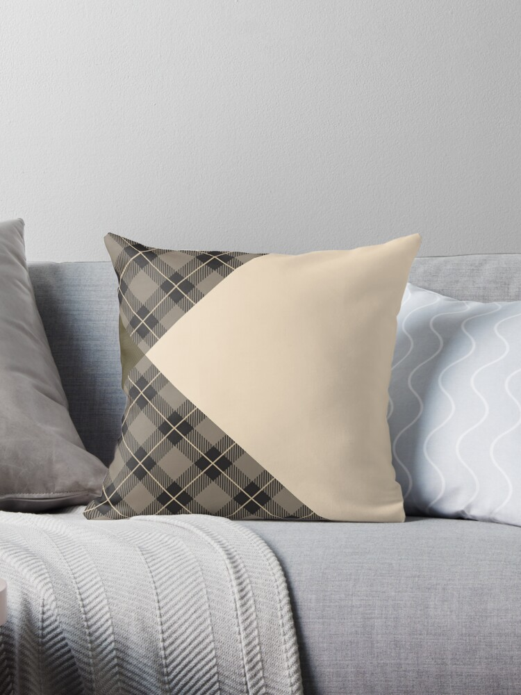 Kiltered 1 - Tartan and tweed cushion by ScotHomeStyle