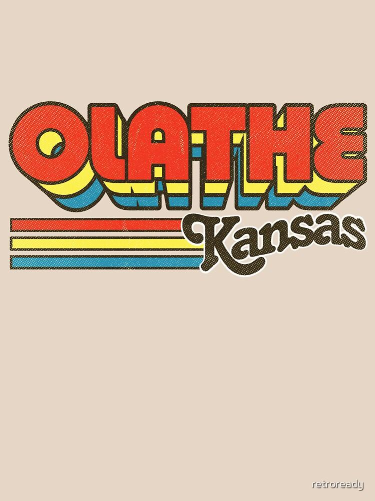 Olathe, KS | City Stripes by retroready