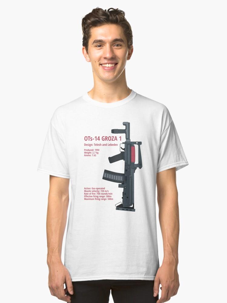 OTs-14 Bullpup Rifle Groza (ОЦ-14 Гроза) vertical Classic T-Shirt Front