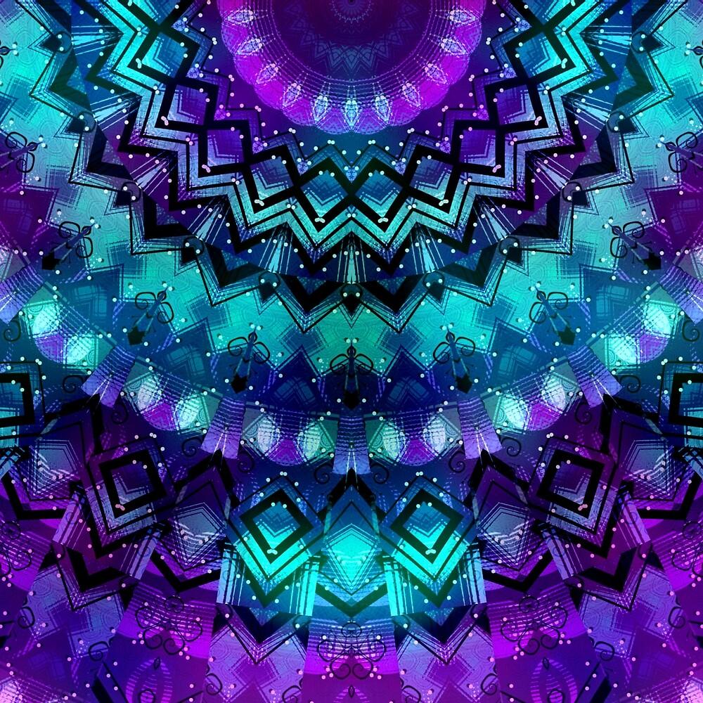 Celestial Midnight Mandala Half  by KirstenStar