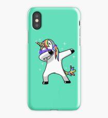 Dabbing Unicorn Shirt Dab Hip Hop Funny Magic iPhone Case/Skin