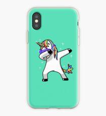 Dabbing Unicorn Shirt Dab Hip Hop Funny Magic iPhone Case