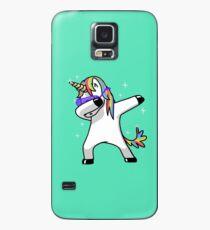 Einhorn-Hemd abtupfen Hip Hop-lustige Magie tupfen Hülle & Klebefolie für Samsung Galaxy