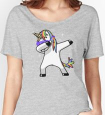 Dabbing Unicorn Shirt Dab Hip Hop Funny Magic Women's Relaxed Fit T-Shirt