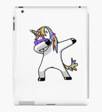 Einhorn-Hemd abtupfen Hip Hop-lustige Magie tupfen iPad-Hülle & Klebefolie