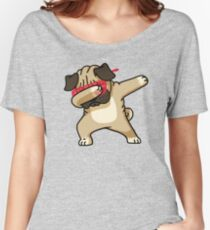 Dabbing Pug Funny Shirt Hip Hop Dabbin Women's Relaxed Fit T-Shirt