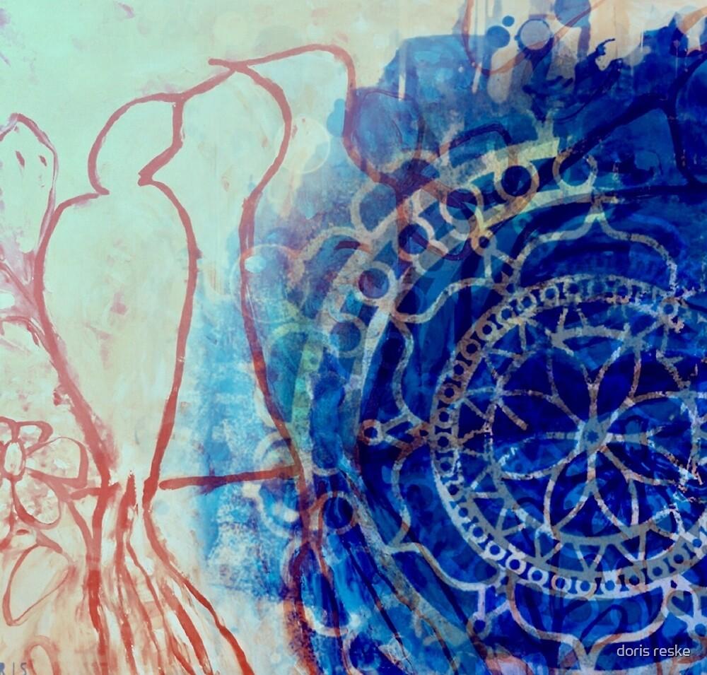 bluebird mandala by doris reske