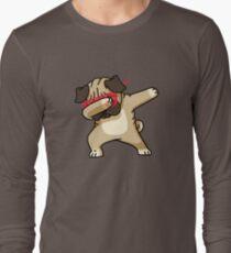 Dabbing Pug funny hip hop tshirt Long Sleeve T-Shirt