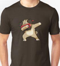 Dabbing Pug funny hip hop tshirt Unisex T-Shirt