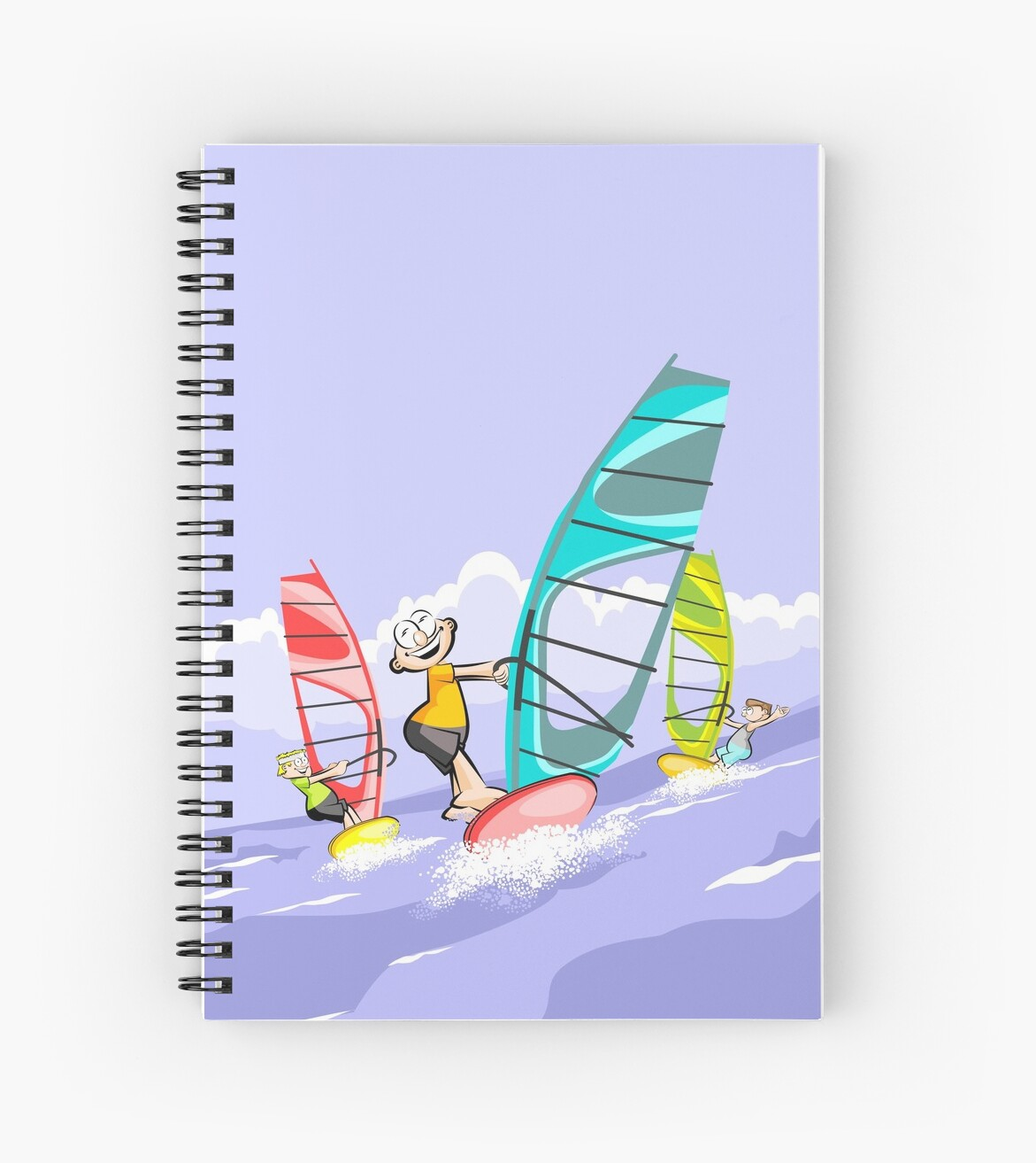 windsurfing three boys having fun by MegaSitioDesign