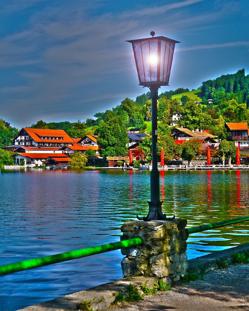 Lantern at the Lake Schliersee by creefot