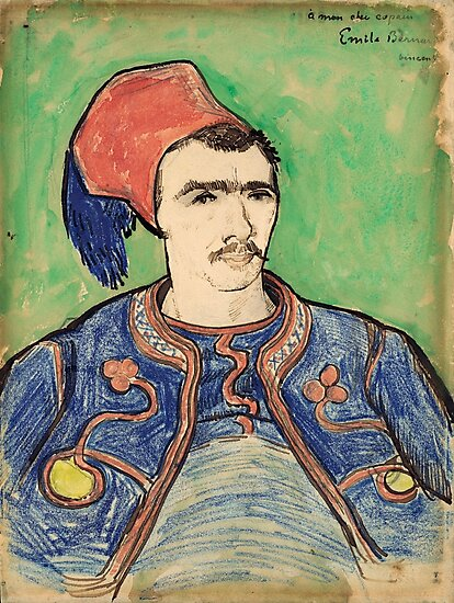 The Zouave, Vincent Van Gogh 1888  by fineearth
