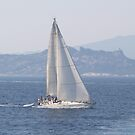 Sailing in the Straits 2 by Jonathan Dower