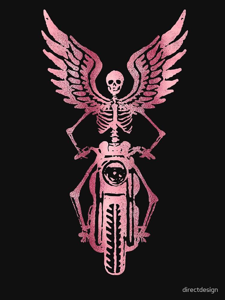 Born to Ride Skeleton Biker - Pink Metallic by directdesign