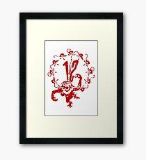 12 Monkeys - Terry Gilliam - Red on White Framed Print