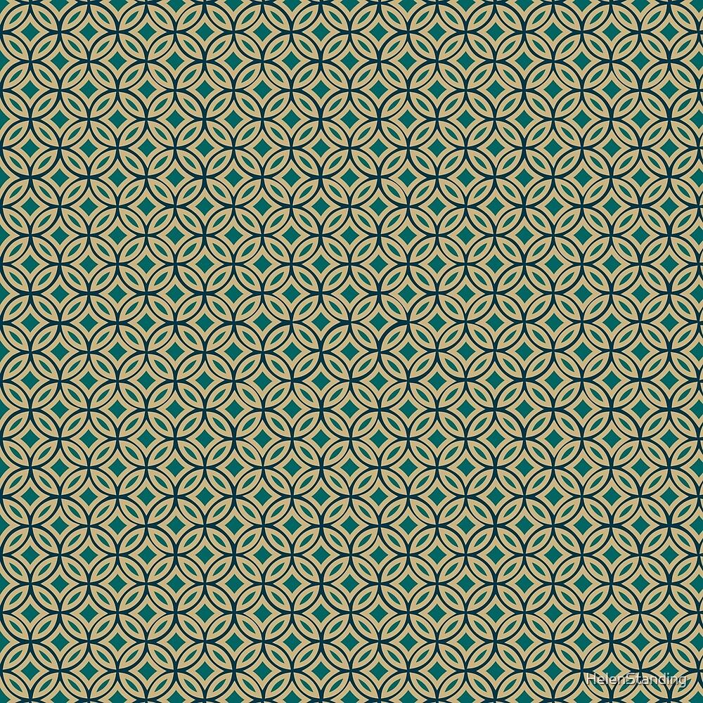 Interlocking Circles - Green (B1) by HelenStanding