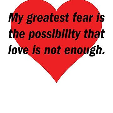 My Greatest Fear (Black Text) by GwoodDesign