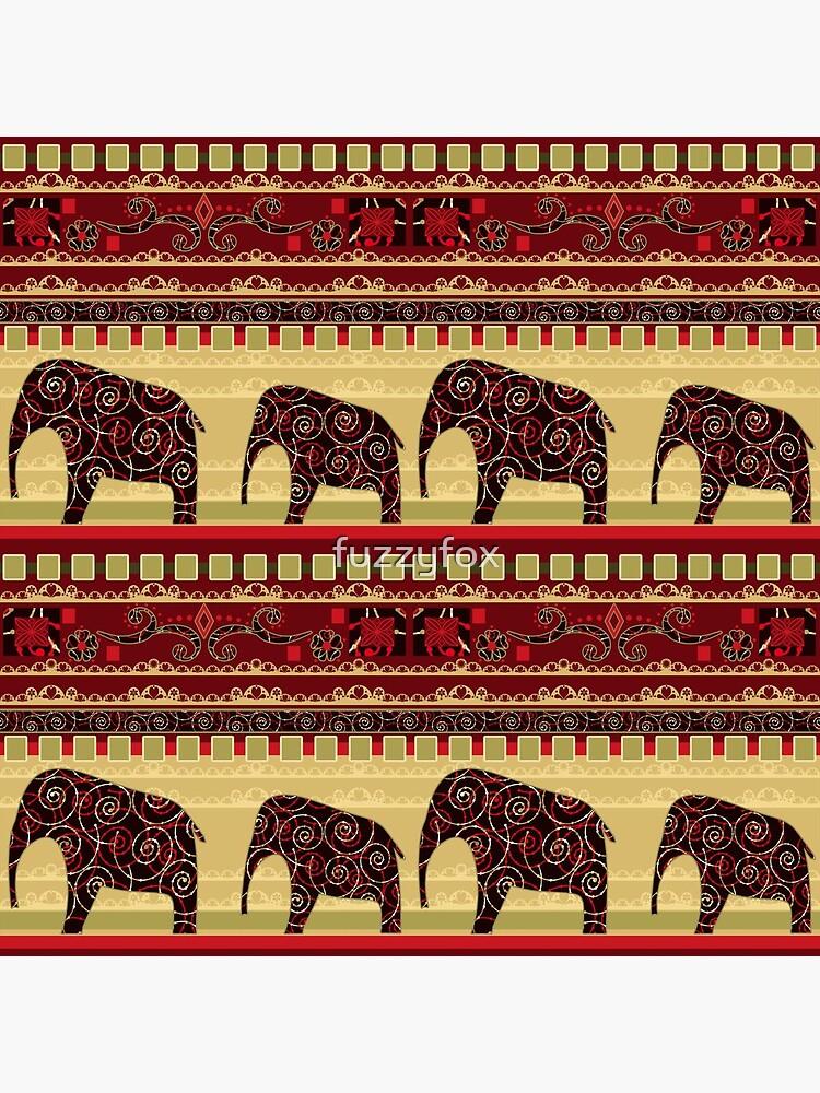Afrikanischer Print mit Elefanten von fuzzyfox