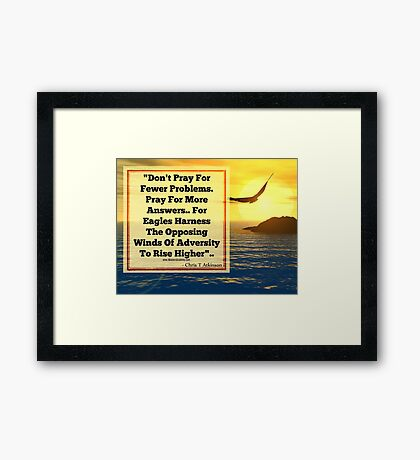 HARNESS THE WINDS Framed Print