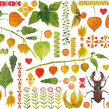 A Very Orderly Autumnal Arrangement by lillylotus