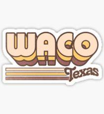 Waco, TX   City Stripes Sticker