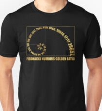 Fibonacci Numbers,  Golden Ratio Unisex T-Shirt