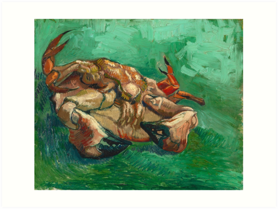 Crab on it's Back by Vincent Van Gogh, 1889  by fineearth