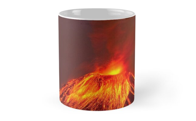 Active Lava Spewing Volcano  by DV-LTD