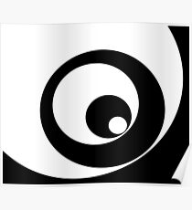 Abstract pattern - black and white. Poster