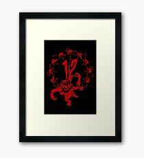 12 Monkeys - Terry Gilliam - Red on Black Framed Print