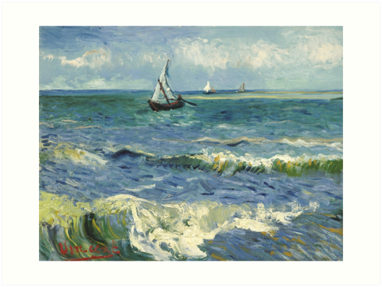 Vincent Van Gogh Seascape Painting by fineearth