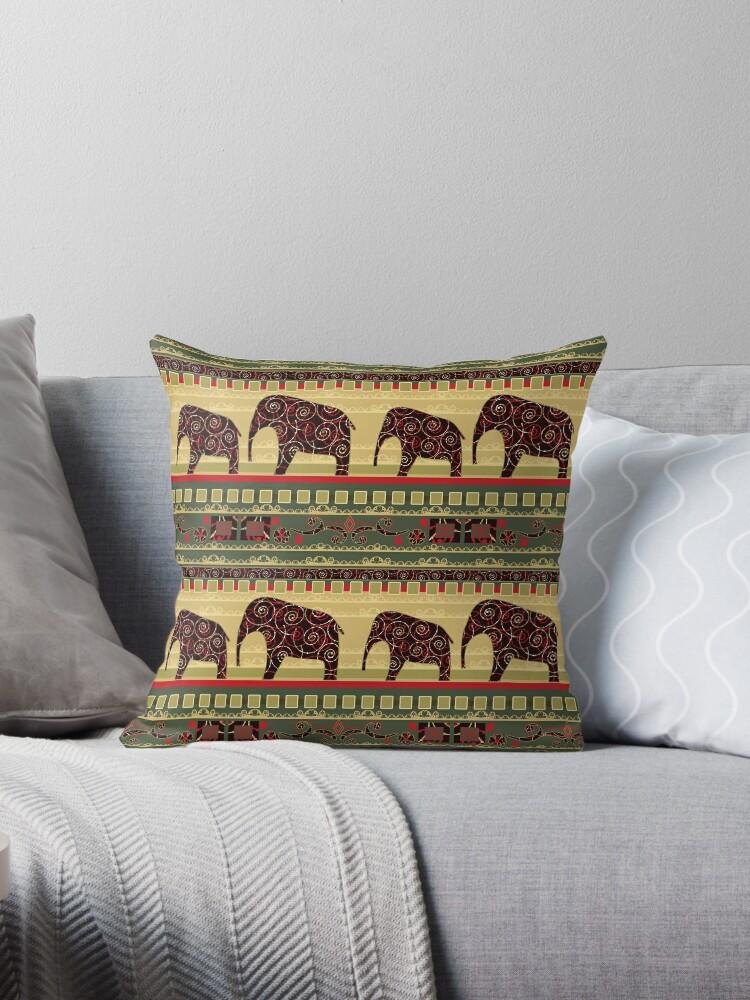 African elephants . The green background . by fuzzyfox