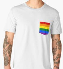 lgbt+ pride flag pocket Men's Premium T-Shirt