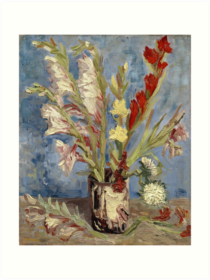 Vincent Van Gogh Vase with Gladioli by fineearth