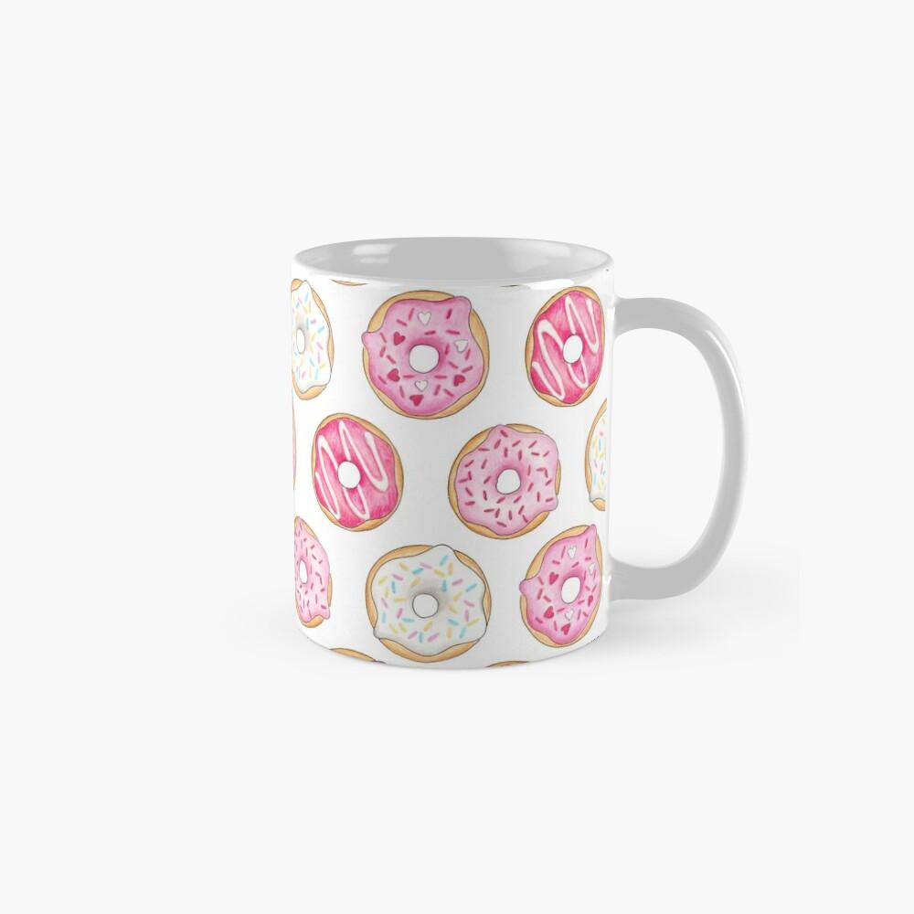 Pink Iced Donuts Pattern Mugs