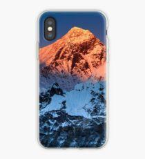 Sunlit Mount Everest Hiking Climbing Mountains iPhone Case