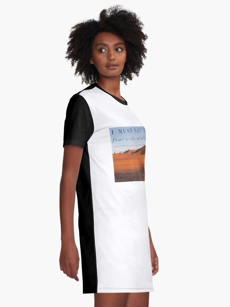 Alternate view of I must not fear Graphic T-Shirt Dress