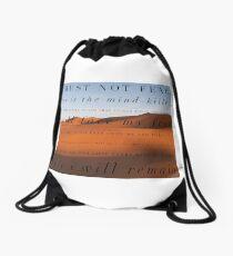 I must not fear Drawstring Bag