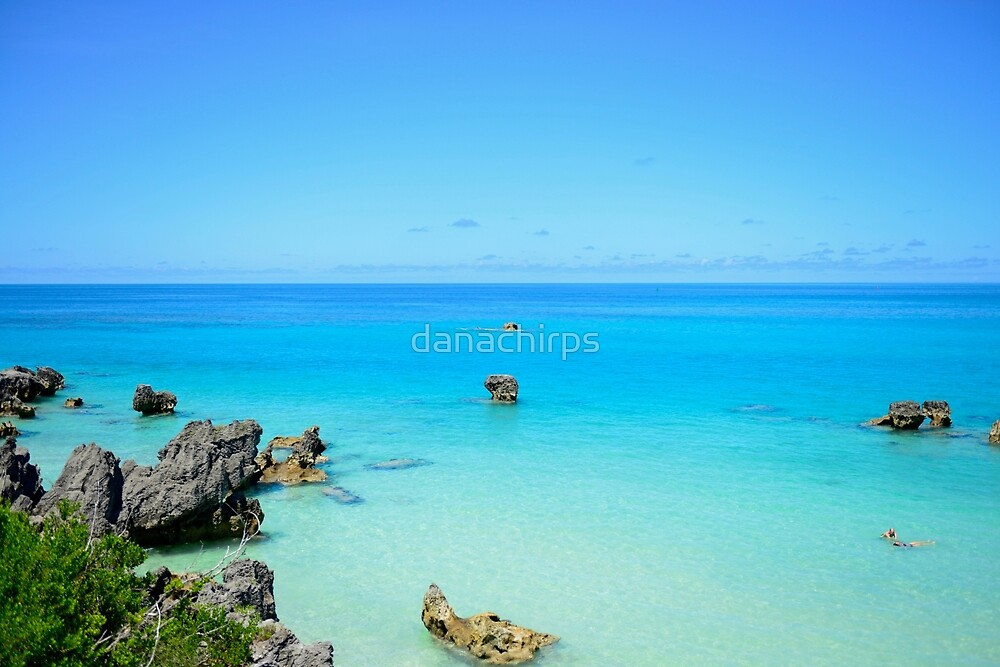 Blue and turquoise water by danachirps